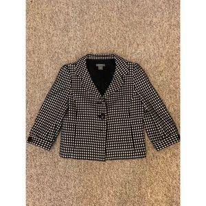 Ann Taylor patterned blazer coat